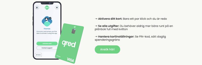 Qred kreditkort för företag